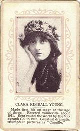 Circa 1915 Clara Kimball Young Ornate Pink Border Trading Card
