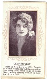 Circa 1915 Cleo Ridgley Ornate Pink Border Trading Card