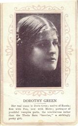 Circa 1915 Dorothy Green Ornate Pink Border Trading Card