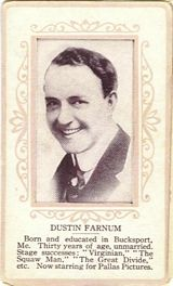 Circa 1915 Dustin Farnum Ornate Pink Border Trading Card