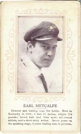 Circa 1915 Earl Metcalfe Ornate Pink Border Trading Card