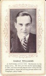 Circa 1915 Earle Williams Ornate Pink Border Trading Card
