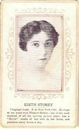 Circa 1915 Edith Storey Ornate Pink Border Trading Card