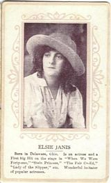 Circa 1915 Elsie Janis Ornate Pink Border Trading Card