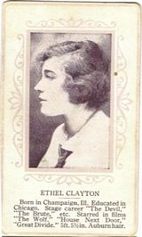 Circa 1915 Ethel Clayton Ornate Pink Border Trading Card