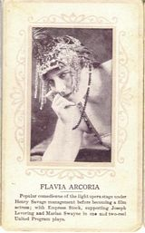 Circa 1915 Flavia Arcoria Ornate Pink Border Trading Card