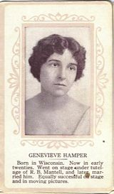 Circa 1915 Genevieve Hamper Ornate Pink Border Trading Card