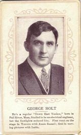 Circa 1915 George Holt Ornate Pink Border Trading Card
