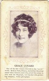 Circa 1915 Grace Cunard Ornate Pink Border Trading Card