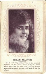 Circa 1915 Helen Marten Ornate Pink Border Trading Card
