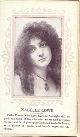 Circa 1915 Isabelle Lowe Ornate Pink Border Trading Card