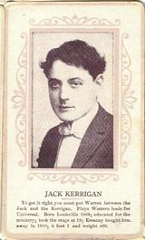 Circa 1915 Jack Kerrigan Ornate Pink Border Trading Card