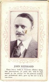 Circa 1915 John Reinhard Ornate Pink Border Trading Card