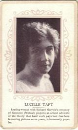 Circa 1915 Lucille Taft Ornate Pink Border Trading Card