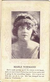 Circa 1915 Mabel Normand Ornate Pink Border Trading Card