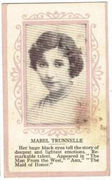 Circa 1915 Mabel Trunnelle Ornate Pink Border Trading Card