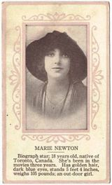 Circa 1915 Marie Newton Ornate Pink Border Trading Card