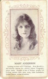 Circa 1915 Mary Anderson Ornate Pink Border Trading Card