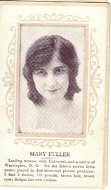 Circa 1915 Mary Fuller Ornate Pink Border Trading Card