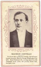 Circa 1915 Maurice Costello Ornate Pink Border Trading Card