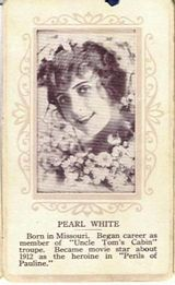 Circa 1915 Pearl White Ornate Pink Border Trading Card