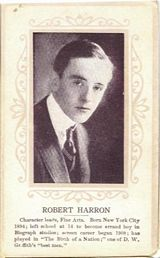 Circa 1915 Bobby Harron Ornate Pink Border Trading Card