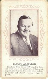 Circa 1915 Roscoe Fatty Arbuckle Ornate Pink Border Trading Card