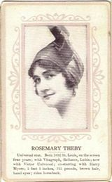 Circa 1915 Rosemary Theby Ornate Pink Border Trading Card