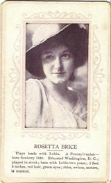 Circa 1915 Rosetta Brice Ornate Pink Border Trading Card