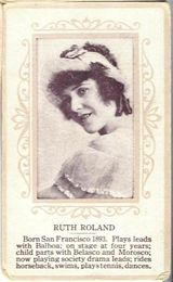 Circa 1915 Ruth Roland Ornate Pink Border Trading Card