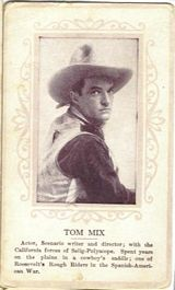 Circa 1915 Tom Mix Ornate Pink Border Trading Card