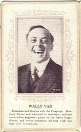 Circa 1915 Wally Van Ornate Pink Border Trading Card