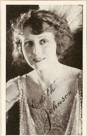 Edith Johnson - 1917 Kromo Gravure Trading Card from Box 4