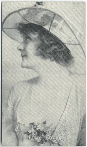 1917 Billie Burke 3x5 Theatrical Advertising Co. Card