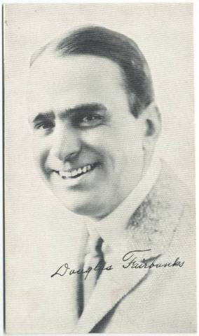 1917 Douglas Fairbanks 3x5 Theatrical Advertising Co. Card