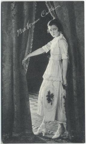1917 Mrs. Vernon Castle 3x5 Theatrical Advertising Co. Card