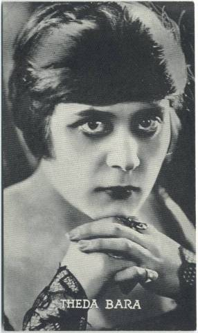 1917 Theda Bara 3x5 Theatrical Advertising Co. Card