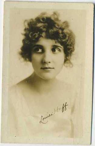 Louise Huff Real Photo Card