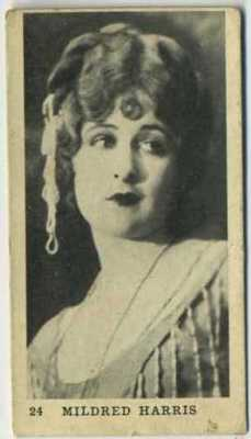 1922 Mildred Harris Strollers Cigarettes Tobacco Card