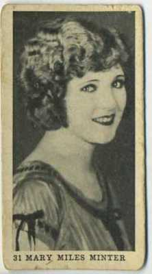 1922 Mary Miles Minter Strollers Cigarettes Tobacco Card