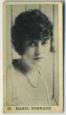 1922 Mabel Normand Strollers Cigarettes Tobacco Card