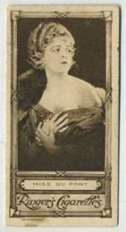 Miss Dupont - 1923 Ringers Cigarettes Tobacco Card