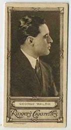 George Walsh - 1923 Ringers Cigarettes Tobacco Card