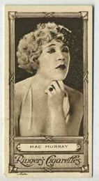 Mae Murray - 1923 Ringers Cigarettes Tobacco Card