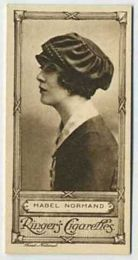 Mabel Normand - 1923 Ringers Cigarettes Tobacco Card