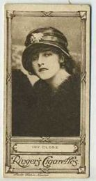Ivy Close - 1923 Ringers Cigarettes Tobacco Card