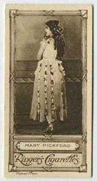 Mary Pickford - 1923 Ringers Cigarettes Tobacco Card