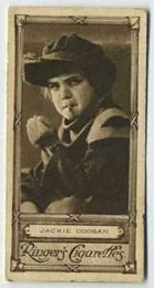 Jackie Coogan - 1923 Ringers Cigarettes Tobacco Card