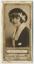May Allison - 1923 Ringers Cigarettes Tobacco Card