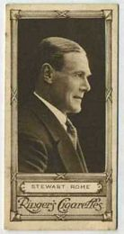 Stewart Rome - 1923 Ringers Cigarettes Tobacco Card